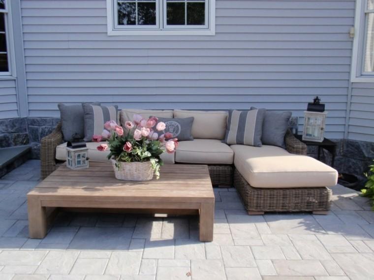 Sofas jard n acogedor y moderno con muebles preciosos for Sofa terraza madera
