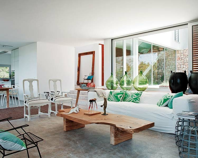 mesa madera natural cafe salon