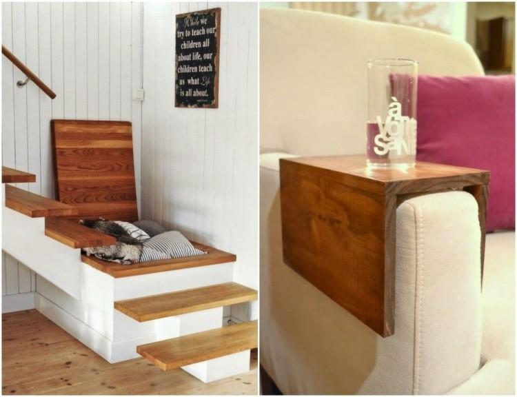 mesa madera reposabrazos sofa baul