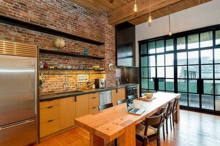 Dise o industrial cocinas modernas y originales for Cocina industrial tipo loft