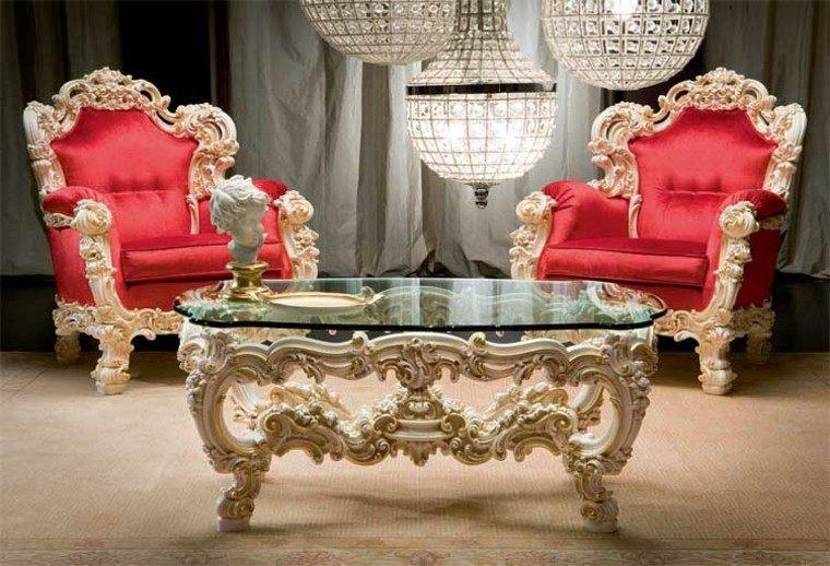 mesa preciosa cristal salon estilo victoriano ideas