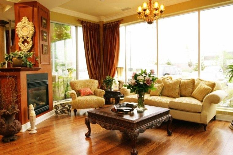 mesa salon estilo victoriano madera baja ideas