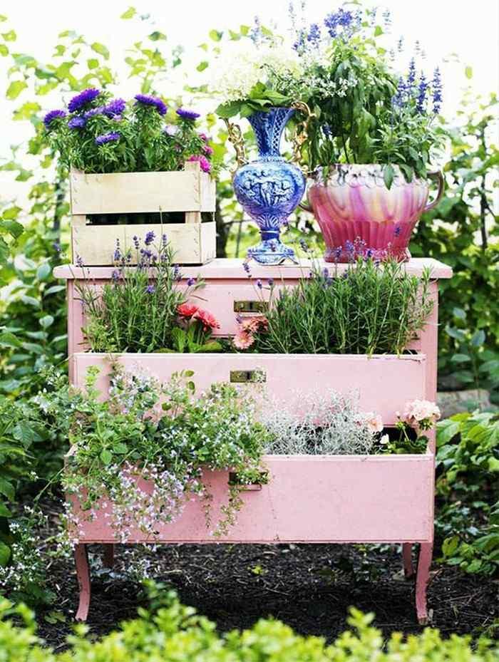 mueble mesilla noche cajones rosa