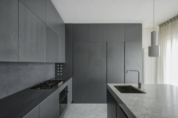 minimalista cocina contacto gabinetes italianos
