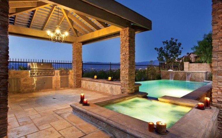 Mirador con piscina setenta y cinco estupendas ideas for Disenos de quinchos con piscinas