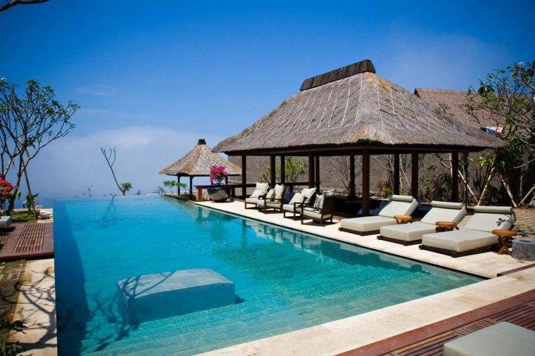mirador piscina infinita estilo tropical