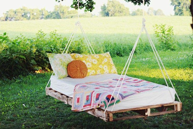 mobiliario cama diy pallets cojines diy