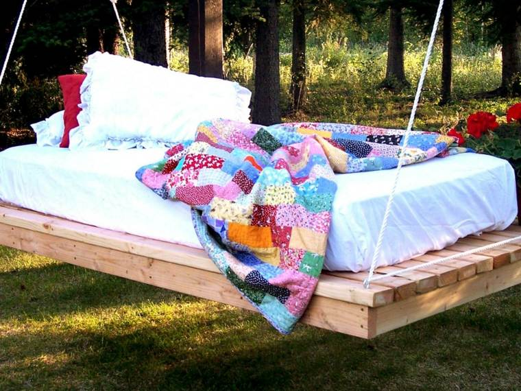 mobiliario colorida playa blanco verano