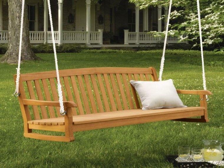 mobiliario cuerdas patio atractivo fresco aislado