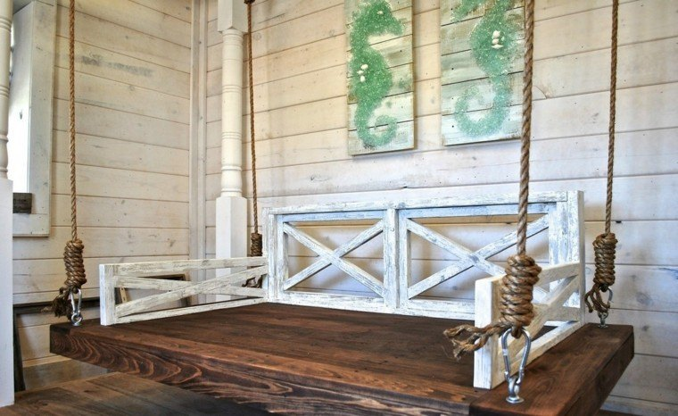mobiliario madera marino estilo hipocampo diy