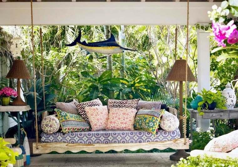 mobiliario plantas terraza decoracion tropical