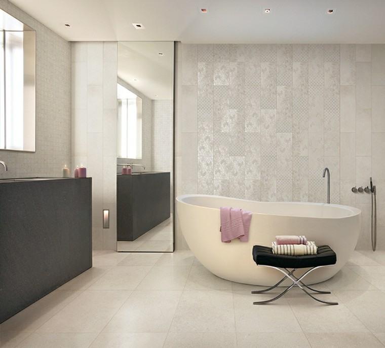 Azulejos para ba os modernos cien ideas geniales - Modelos de cuartos de banos ...