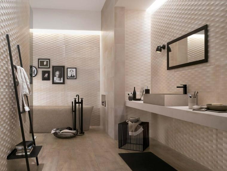 modelo creta azulejos baño relieve