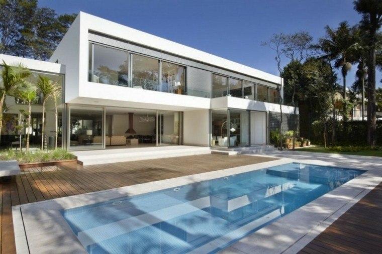 modelos piscinas diseño moderno jardin