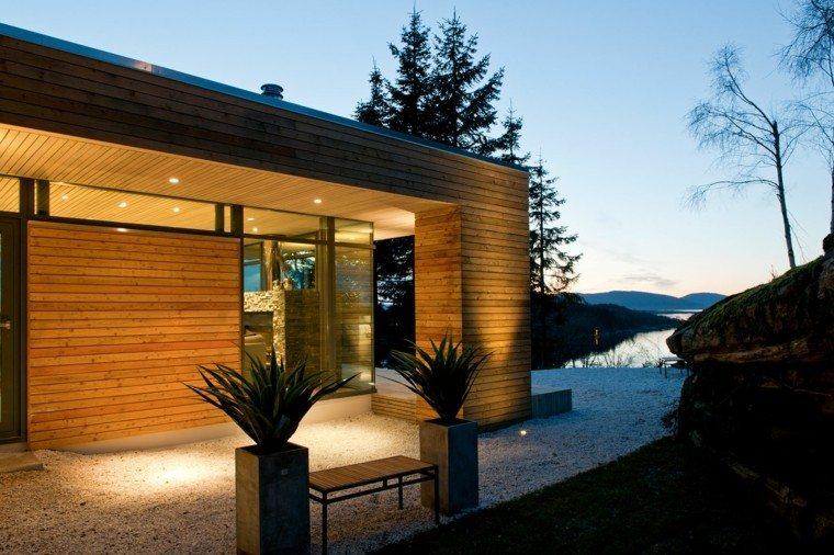 moderno cabina exteriores luces led