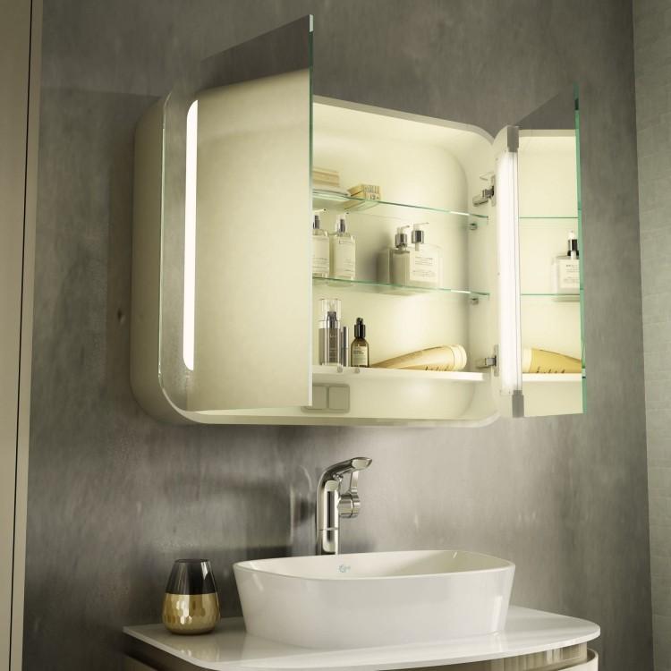 moderno crema blanco lavabo cosmeticos