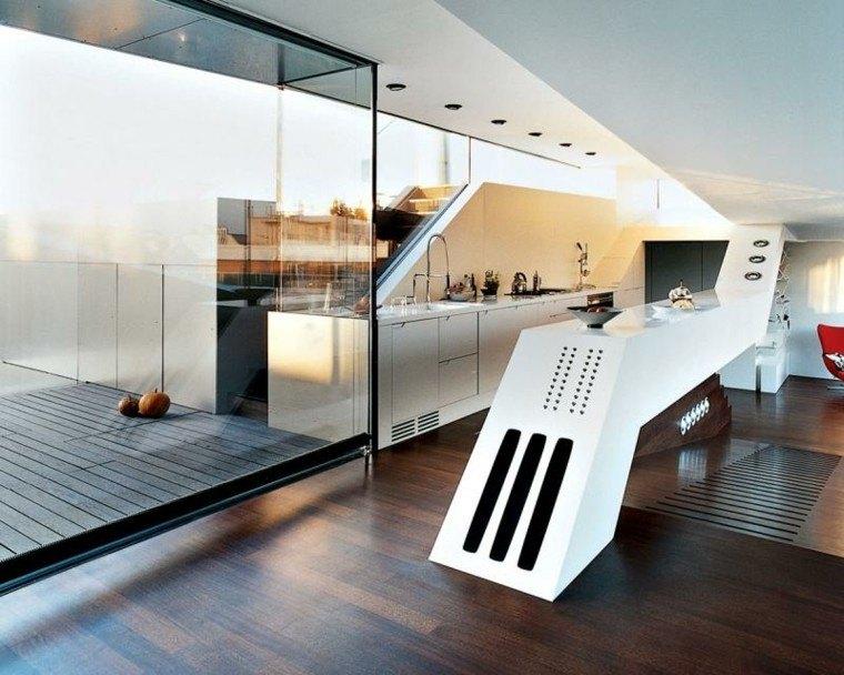 moderno cristal futurista terraza blanco