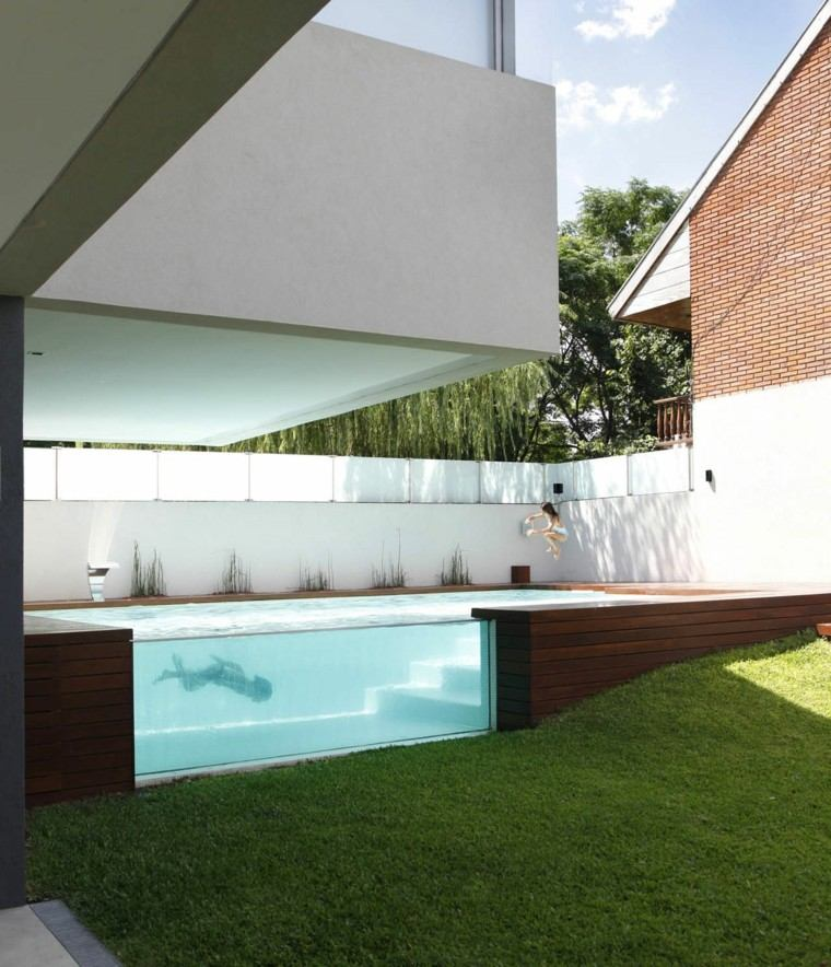 modern sandpaper patio pool minimalist