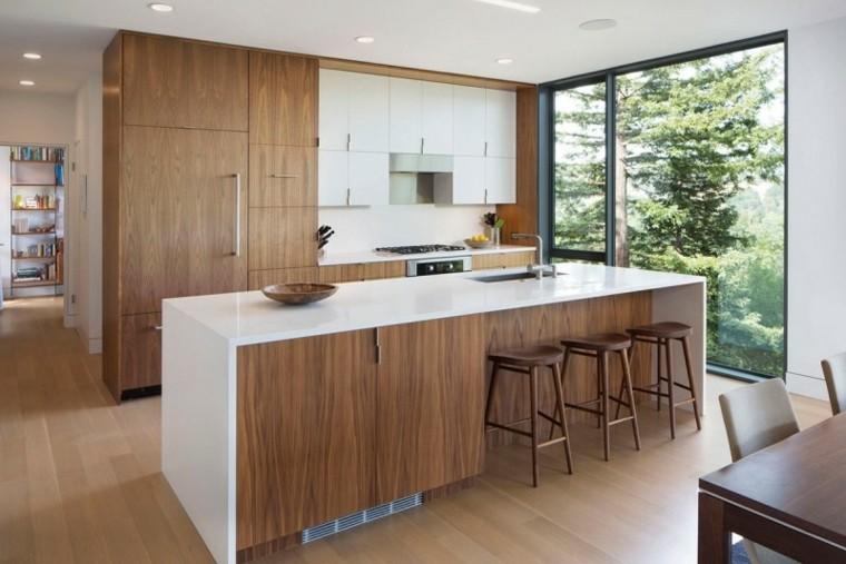 moderno madera tazon jardin espacio