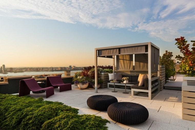 modernos sillones espacio ciudad moderno