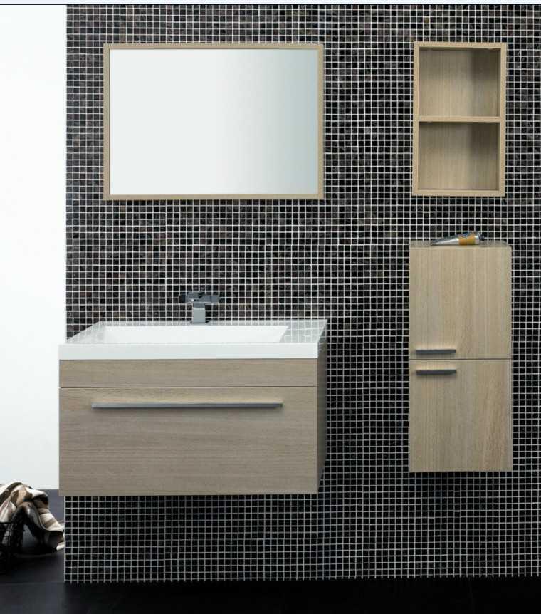 mosaico color negro muebles madera