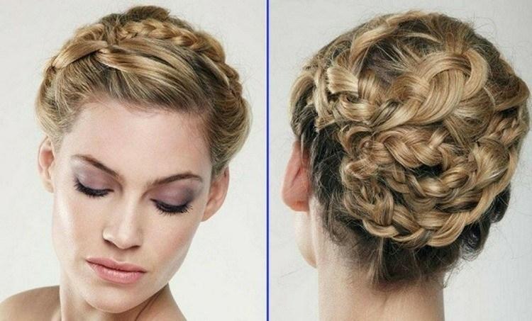 Peinados de fiesta con glamur cincuenta ideas geniales for Medio recogido con trenzas