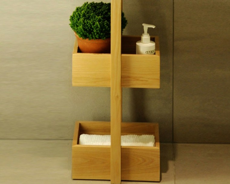 mueble baño auxiliar cajones madera