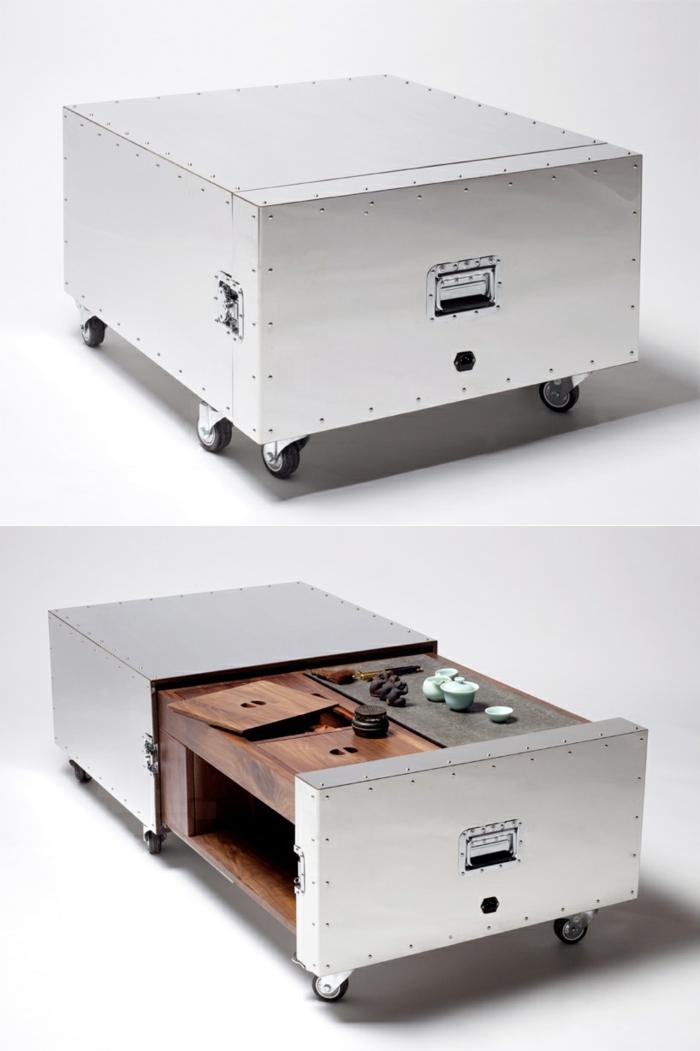 mueble caja fuerte metal ruedas