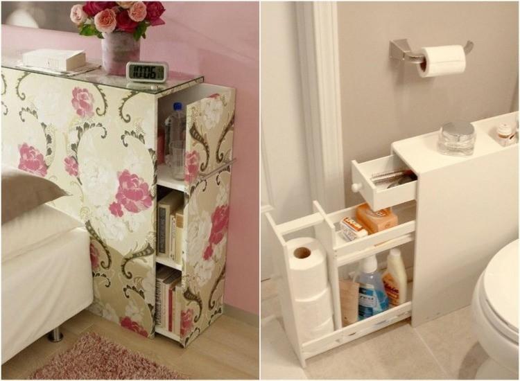 mueble cajones diseño casero baño