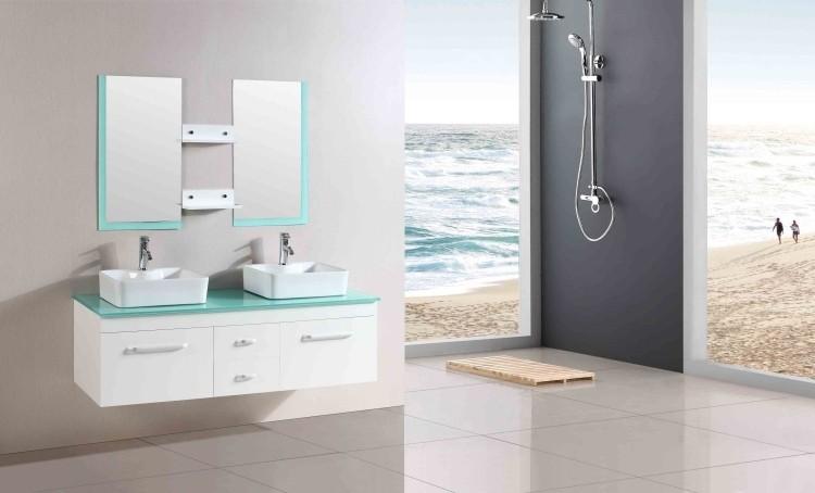 Lavabos sobre encimera modernos 50 ideas for Lavabo vidrio