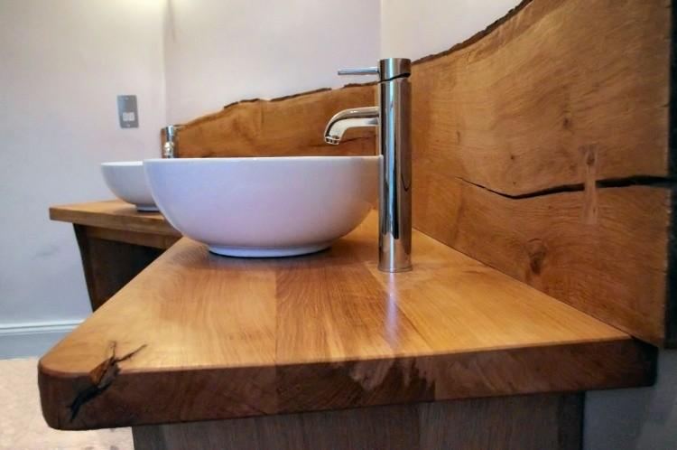 mueble lavabo madera natural maciza