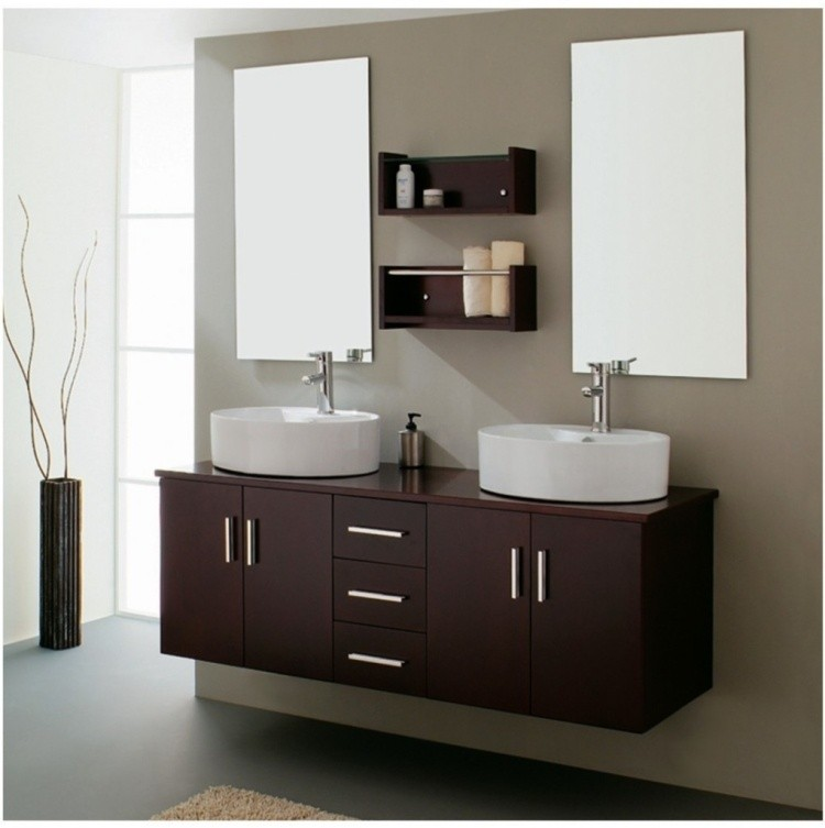 mueble lavabos laminado color marron