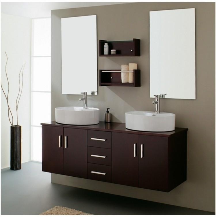 Lavabos sobre encimera modernos 50 ideas for Muebles para lavabos modernos