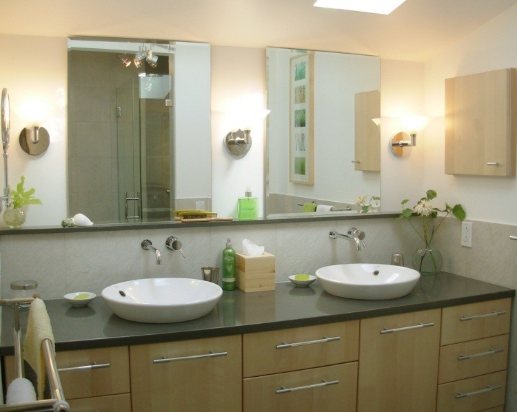 mueble lavabo madera clara lavabos