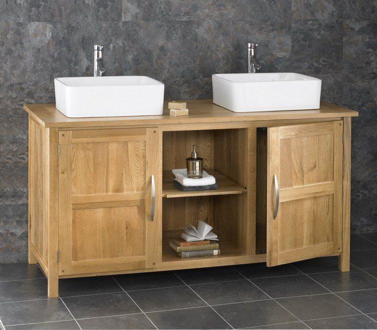 muebles lavabo madera lavabos sobre encimera modernos ideas