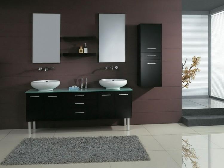 mueble color negro encimera cristal