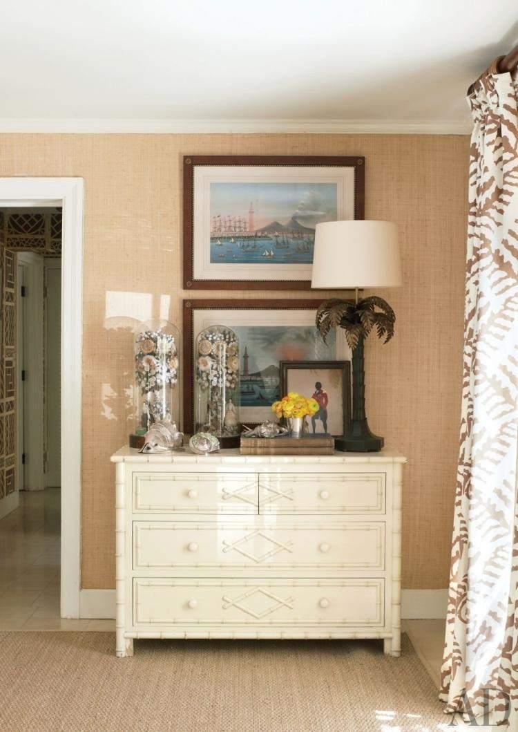 mueble recibidor color blanco cajones