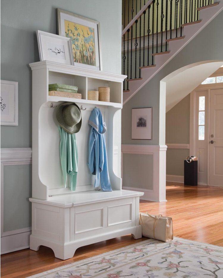 mueble recibidor entrada color blanco