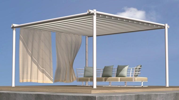 muebles aluminio exterior resistente elegante