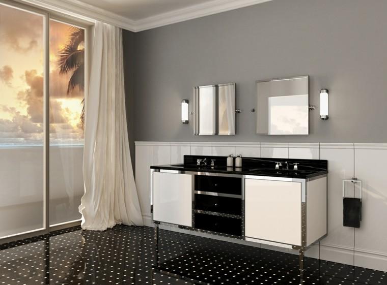 muebles de baño bordes metal