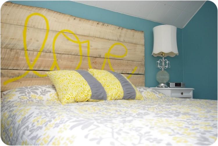 muebles baratos diy cama cabecera letras