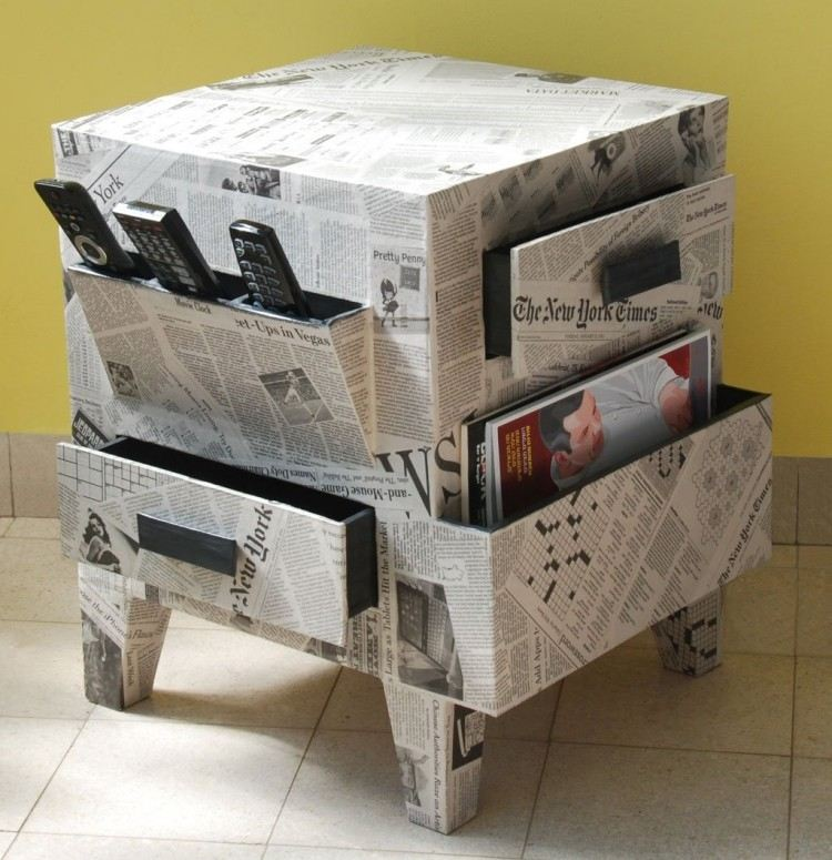 muebles baratos diy periodicos controles mesa