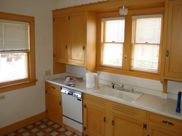 muebles de cocina baratos con laminado de madera