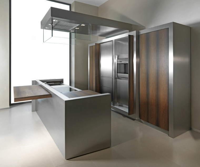 Dise o de cocinas modernas 100 ejemplos geniales for Muebles de cocina de madera modernos