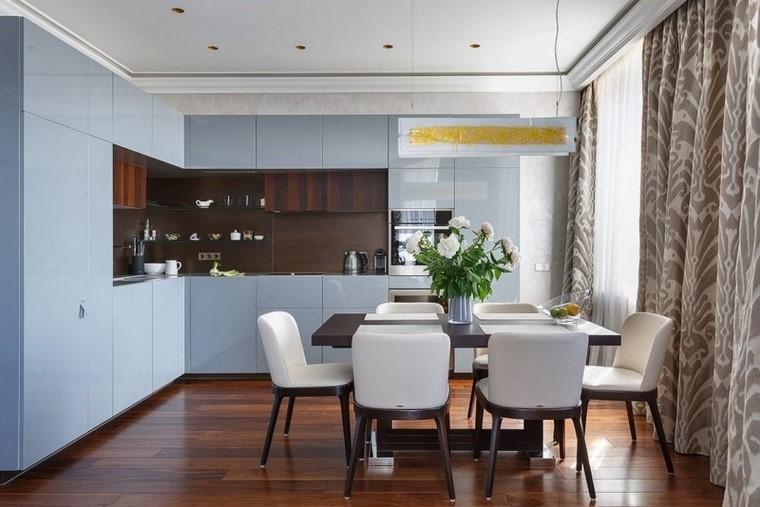 muebles cocina armarios suelo techo ideas modernas