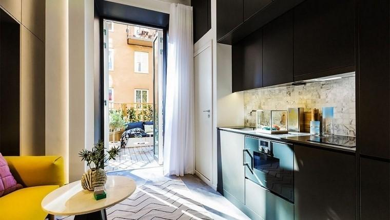 muebles cocina color negro ideas modernas