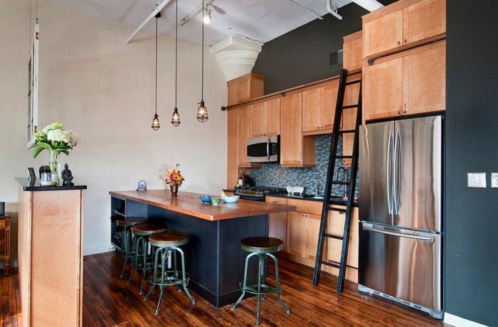 muebles cocina laminado madera añil