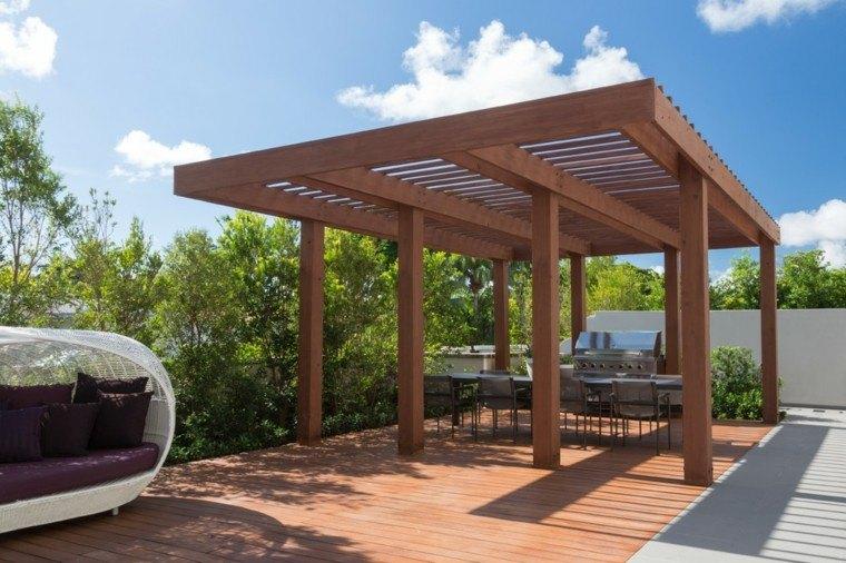 muebles cojines exterior piscina moderna
