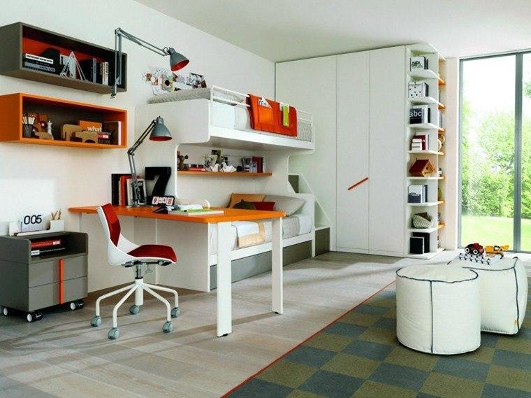 muebles colores dormitorio dos camas ideas