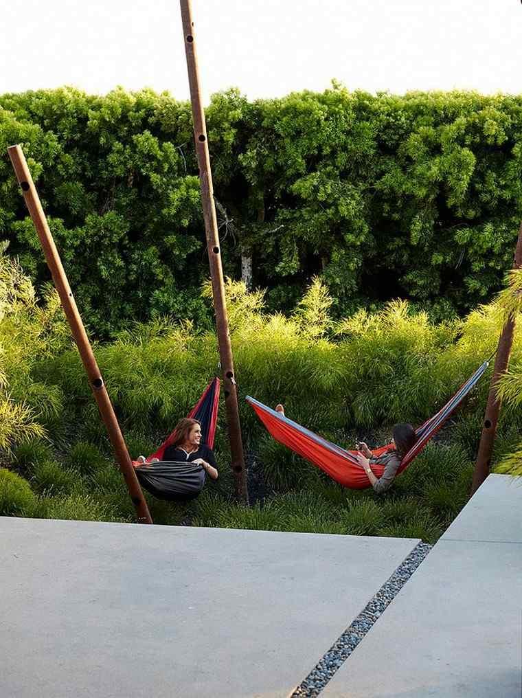 muebles de jardín hamacas estilo contemporaneo ideas